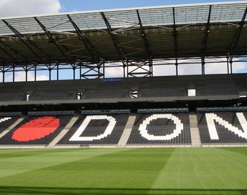 how to get to mk dons stadium by train