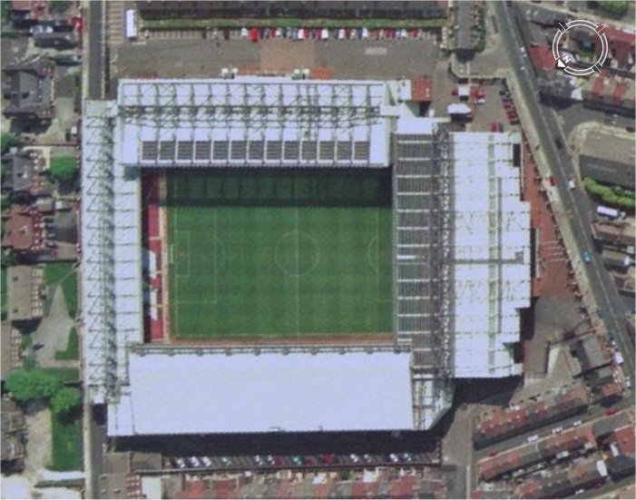 Aerial views of football stadiums