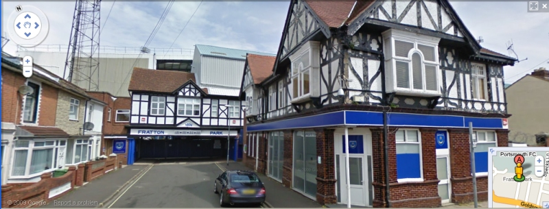 Fratton Park - Google Maps Street View